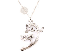 Vogue Crafts and Designs Pvt. Ltd. manufactures Tree Bird House Silver Pendant at wholesale price.