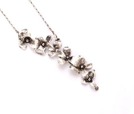 Vogue Crafts and Designs Pvt. Ltd. manufactures Floral Silver Pendant at wholesale price.