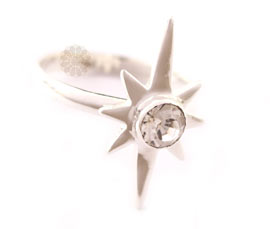 Vogue Crafts and Designs Pvt. Ltd. manufactures Silver Sun Ring at wholesale price.
