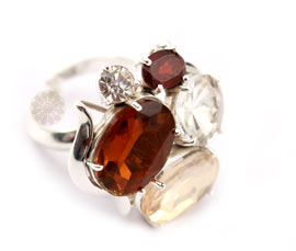 Vogue Crafts and Designs Pvt. Ltd. manufactures Multicolor Stone Silver Ring at wholesale price.