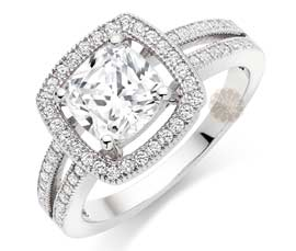 Vogue Crafts and Designs Pvt. Ltd. manufactures Designer Stone Cluster Ring at wholesale price.