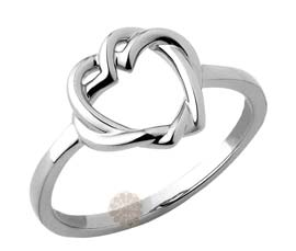 Vogue Crafts and Designs Pvt. Ltd. manufactures Hearts Interlocked Silver Ring at wholesale price.