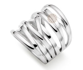 Vogue Crafts and Designs Pvt. Ltd. manufactures Classic Silver Entwined Ring at wholesale price.