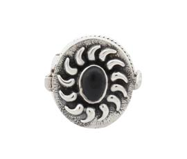 Vogue Crafts and Designs Pvt. Ltd. manufactures Traditional Black Stone Silver Ring at wholesale price.