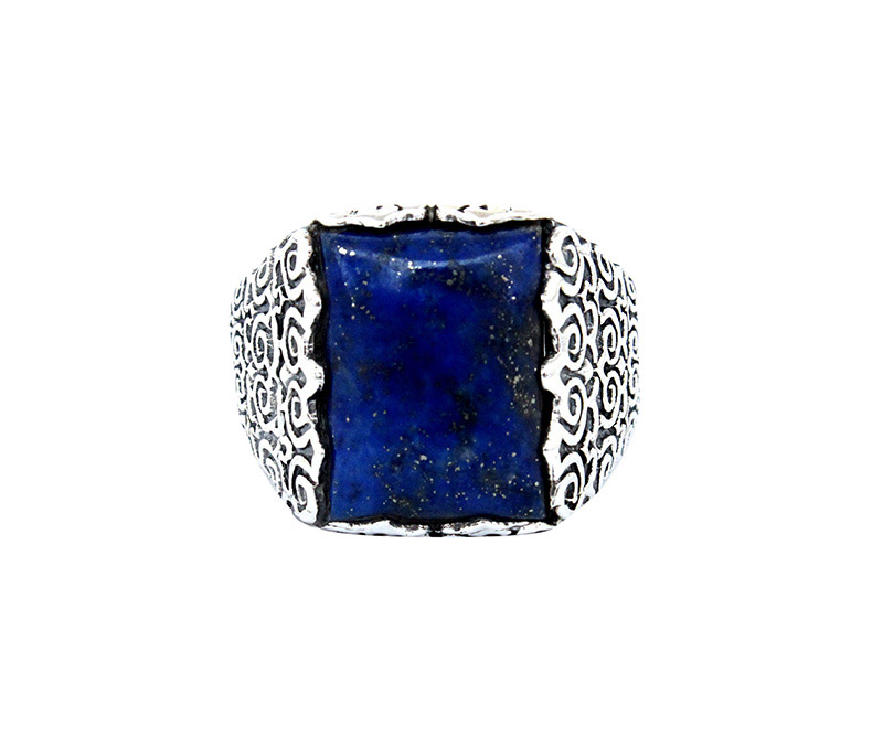 Vogue Crafts & Designs Pvt. Ltd. manufactures Thick Blue Stone Silver Ring at wholesale price.