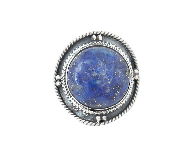 Vogue Crafts & Designs Pvt. Ltd. manufactures Round Purple Stone Silver Ring at wholesale price.