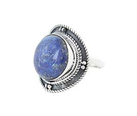 Vogue Crafts and Designs Pvt. Ltd. manufactures Round Purple Stone Silver Ring at wholesale price.
