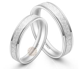 Vogue Crafts and Designs Pvt. Ltd. manufactures Textured Wedding Silver Rings at wholesale price.