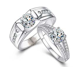 Vogue Crafts and Designs Pvt. Ltd. manufactures Silver Wedding Ring at wholesale price.