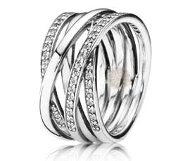 Vogue Crafts and Designs Pvt. Ltd. manufactures Silver Entwined Ring at wholesale price.