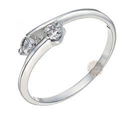 Vogue Crafts and Designs Pvt. Ltd. manufactures Silver Bypass Ring at wholesale price.