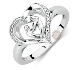Vogue Crafts and Designs Pvt. Ltd. manufactures Mother and Child Silver Ring at wholesale price.