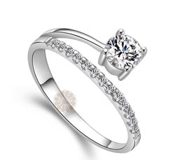 Vogue Crafts and Designs Pvt. Ltd. manufactures Round Stone Silver Ring at wholesale price.