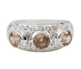 Vogue Crafts and Designs Pvt. Ltd. manufactures Fancy Sterling Silver Ring at wholesale price.