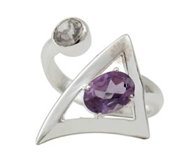 Vogue Crafts and Designs Pvt. Ltd. manufactures Triangle Silver Ring at wholesale price.