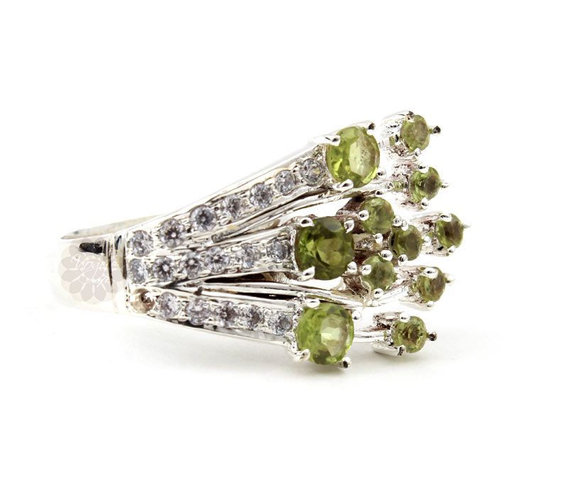 Vogue Crafts & Designs Pvt. Ltd. manufactures Magnificent Stoned Silver Ring at wholesale price.