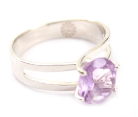 Vogue Crafts and Designs Pvt. Ltd. manufactures Purple Stone Silver Ring at wholesale price.