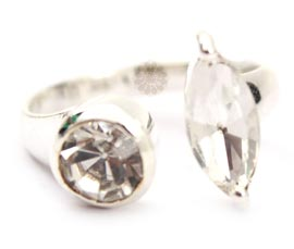 Vogue Crafts and Designs Pvt. Ltd. manufactures Adjustable Silver Ring at wholesale price.