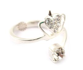 Vogue Crafts and Designs Pvt. Ltd. manufactures Silver Crown Ring at wholesale price.