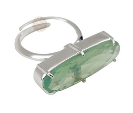 Vogue Crafts and Designs Pvt. Ltd. manufactures Green Stone Silver Ring at wholesale price.