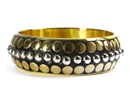 Fashionable Golden Bangle with black finish at reasonable prices.