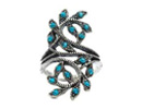 Branches with Leaves Ring with blue stones manufacturing at reasonable price.