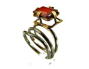 Folded Red Stone Ring manufactured at affordable prices.